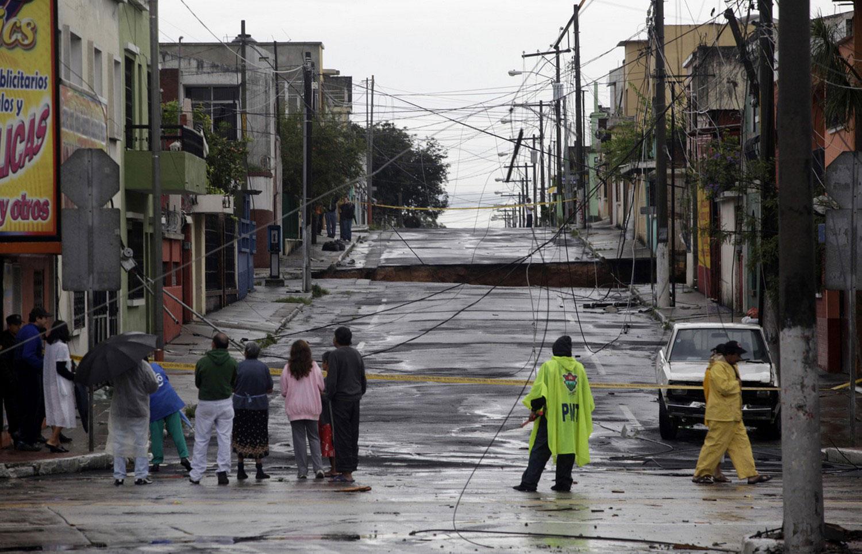 яма на улице Гватемалы