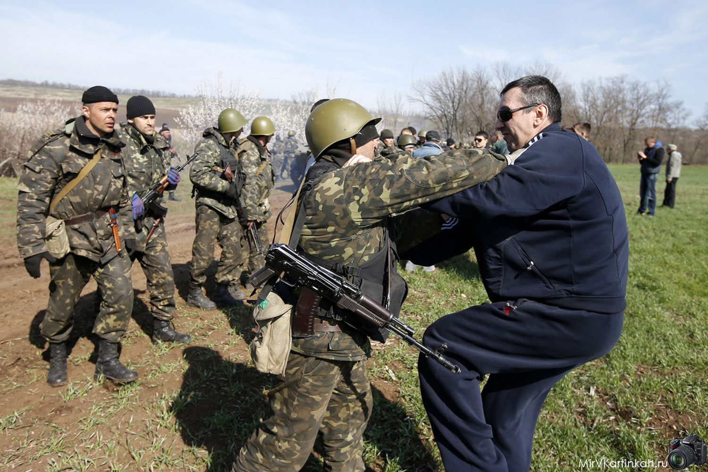 столкновение солдат с населением