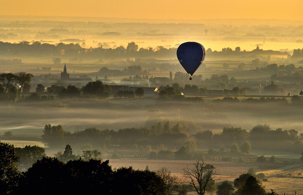 Воздушный шар над Францией, фото