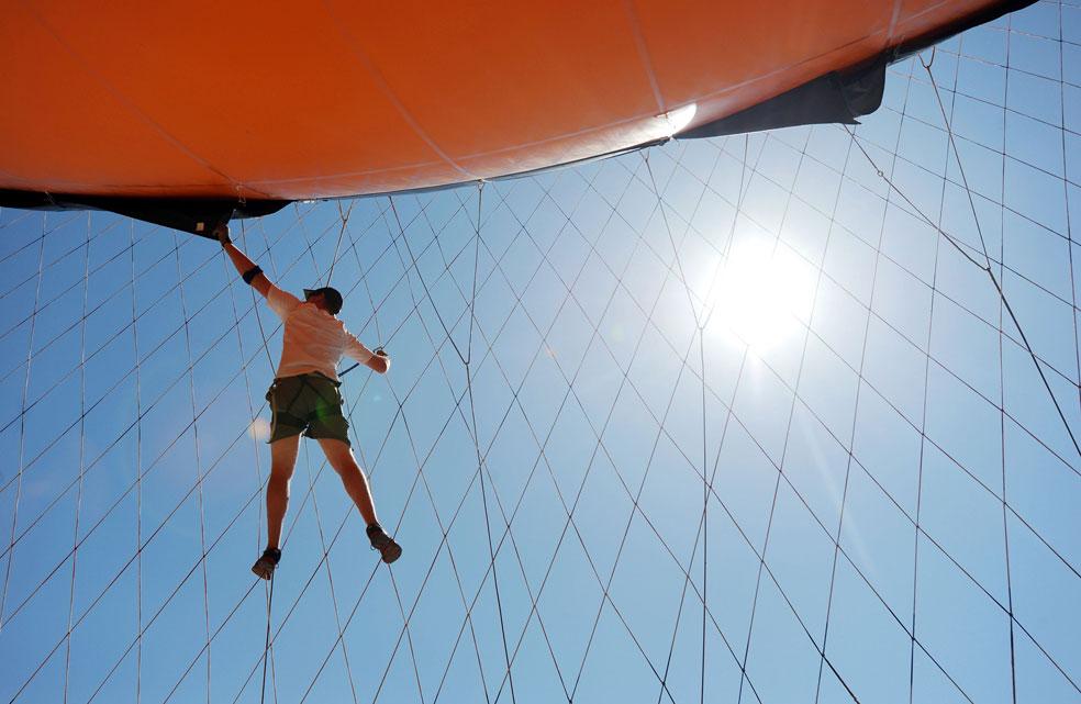 воздушный шар в качестве баннера, фото