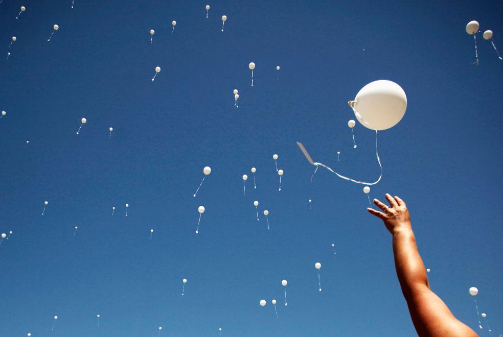 запуск воздушных шаров на паралимпийских играх в Пекине, фото