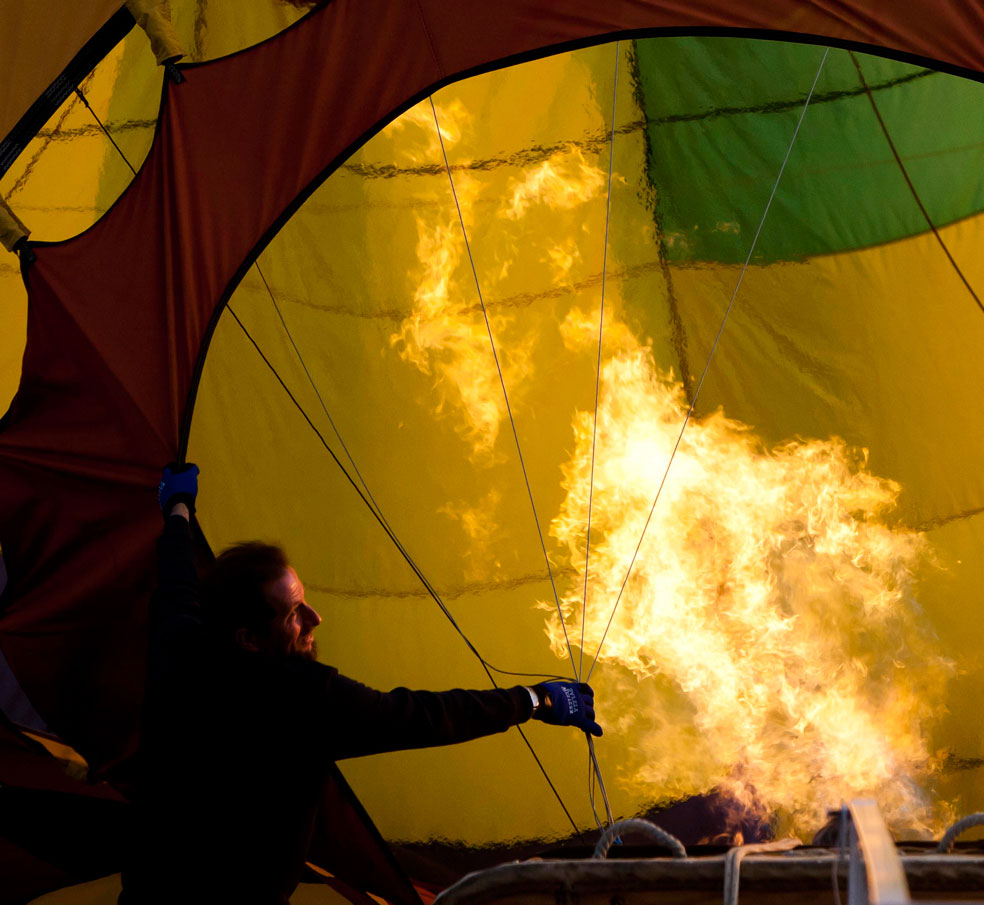 нагревание воздушного шара, фото