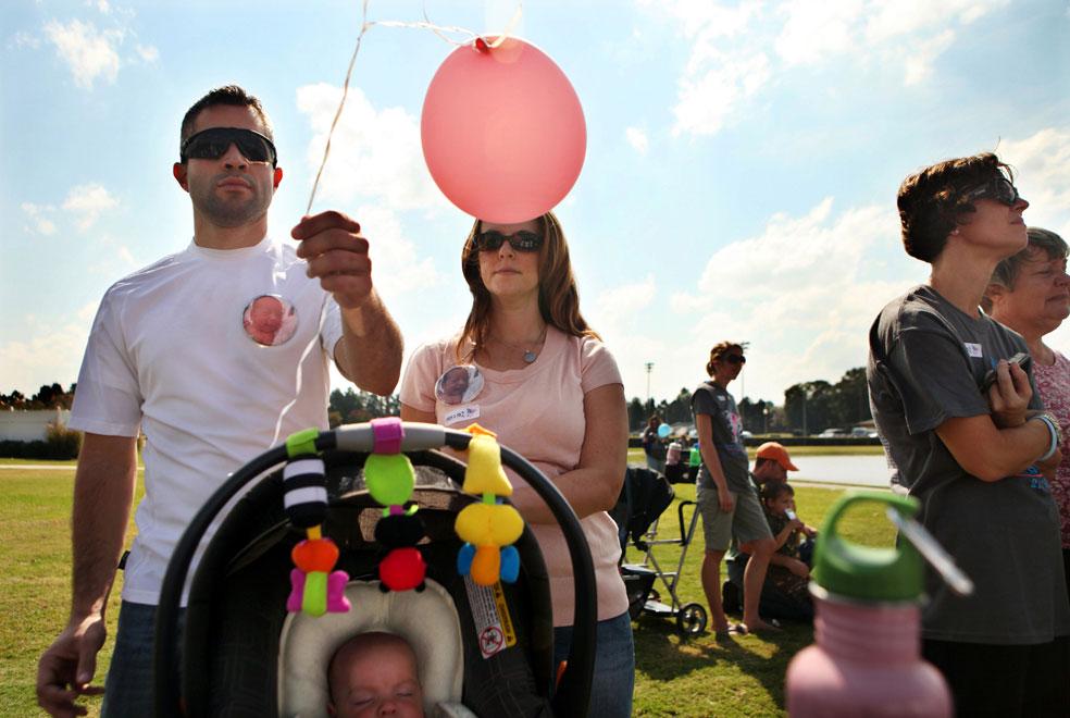 воздушный шар в память о дочери, фото