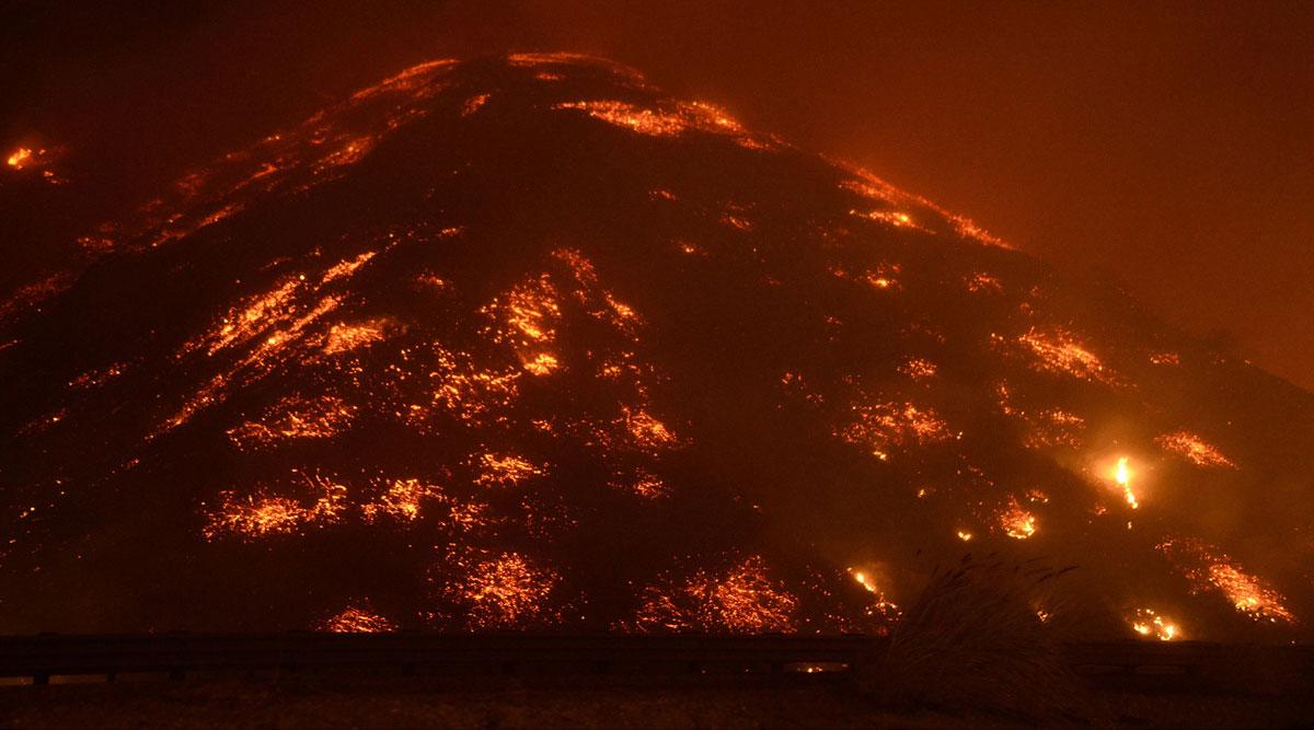 горящий штат Калифорния