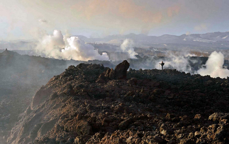 вулкан Плоский Толбачик, фото