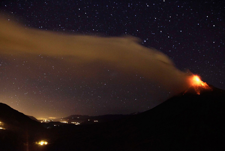 вулкан Тунгурауа на Эквадоре, фото