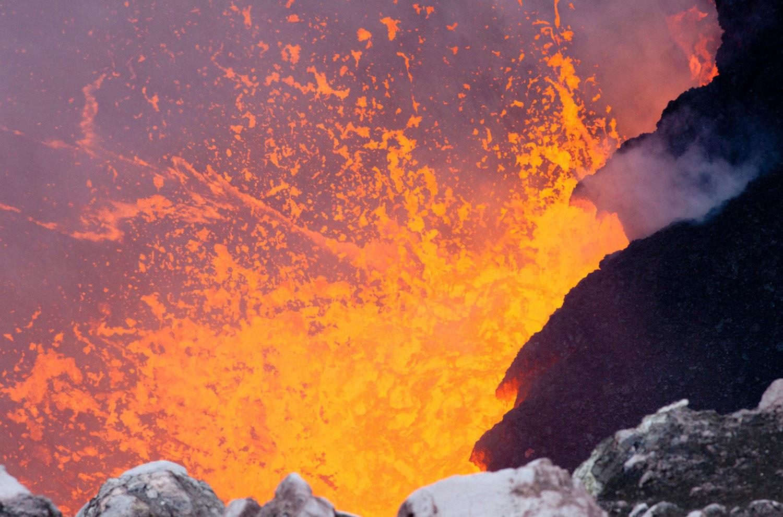 лава вулкана Килауэа, фото