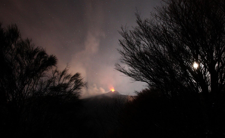 Облака вулканического пепла, фото