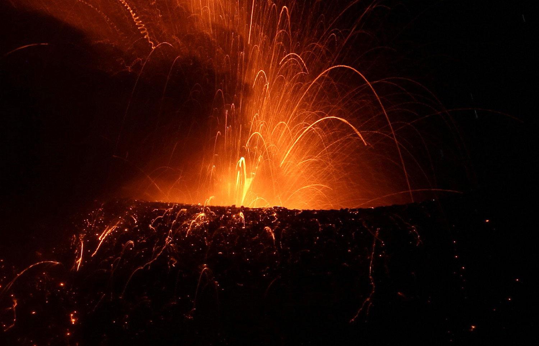 Вулкан Тунгурауа в Эквадоре