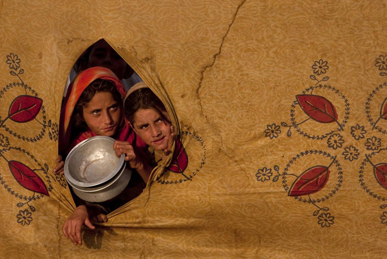 Лагерь переселенцев в пакистанском районе