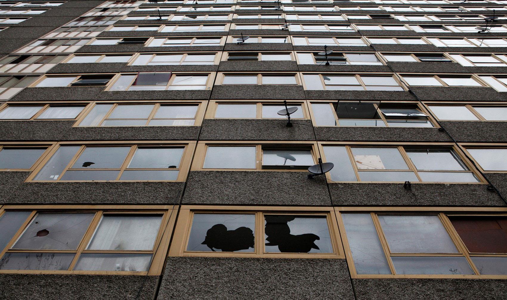 заброшенное здание Лондона, фото