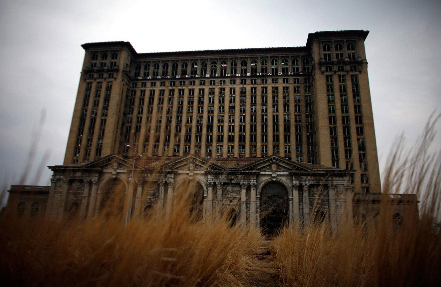 Центральный железнодорожный вокзал в Детройте, фото