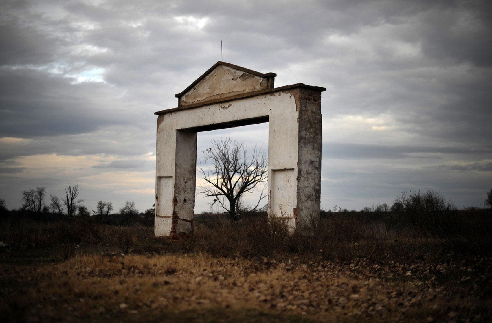 ворота колхоза, фото