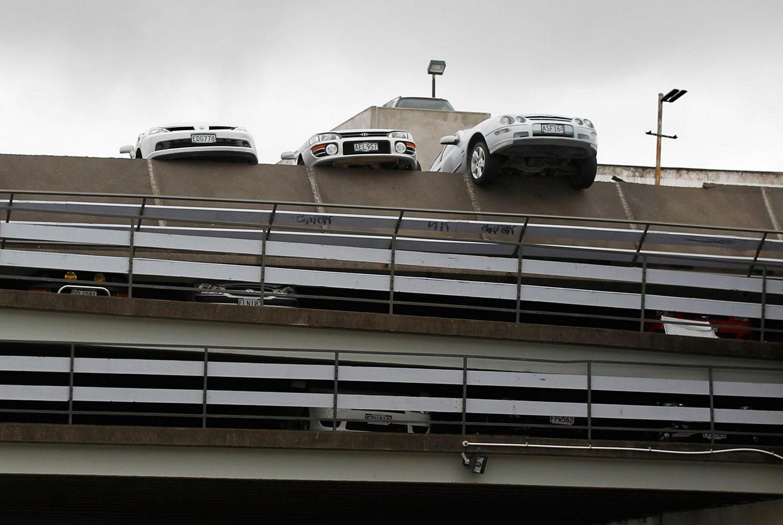 Расплющенные автомобили, фото