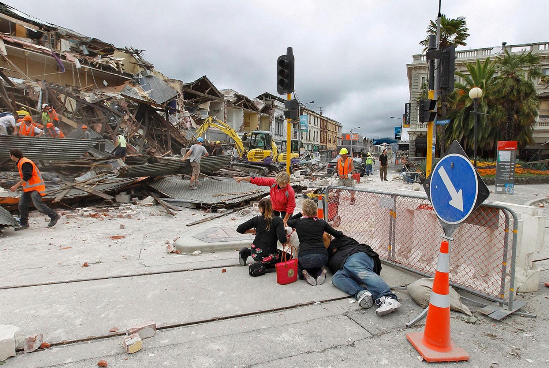 Разрушительное землетрясение, фото Новой Зеландии