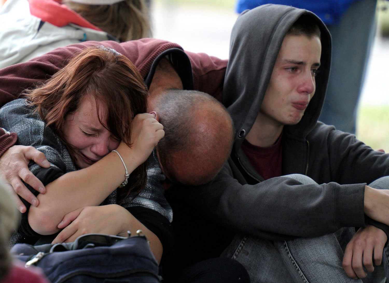 дети потеряли мать после землетрясения, фото Новой Зеландии