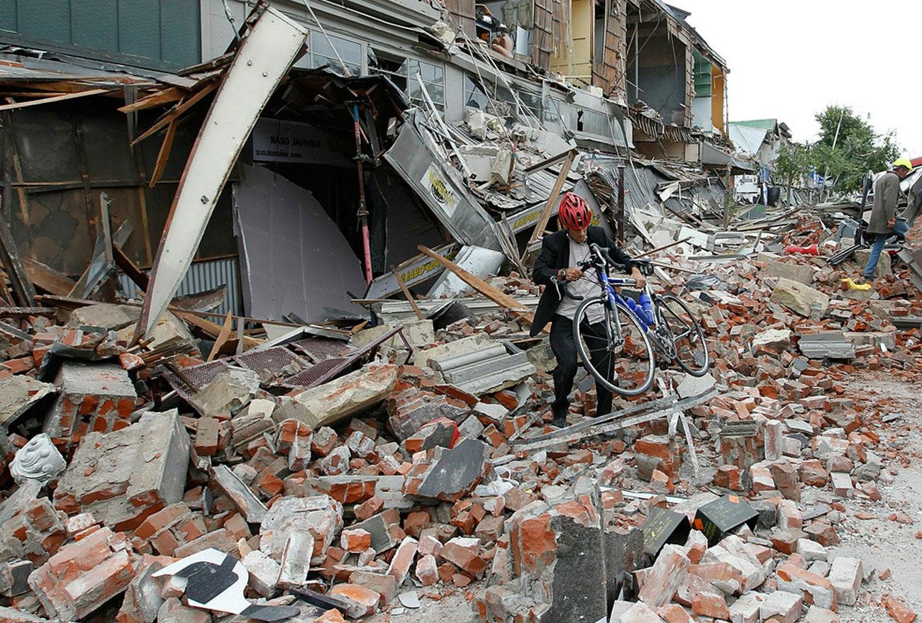 руины города, фото Новой Зеландии