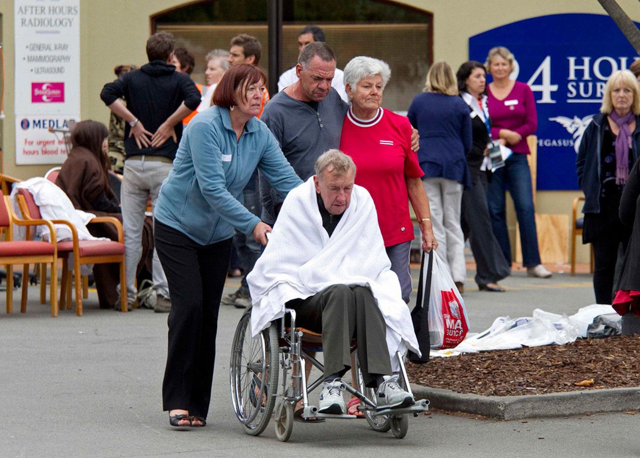Эвакуация пациентов, фото Новой Зеландии