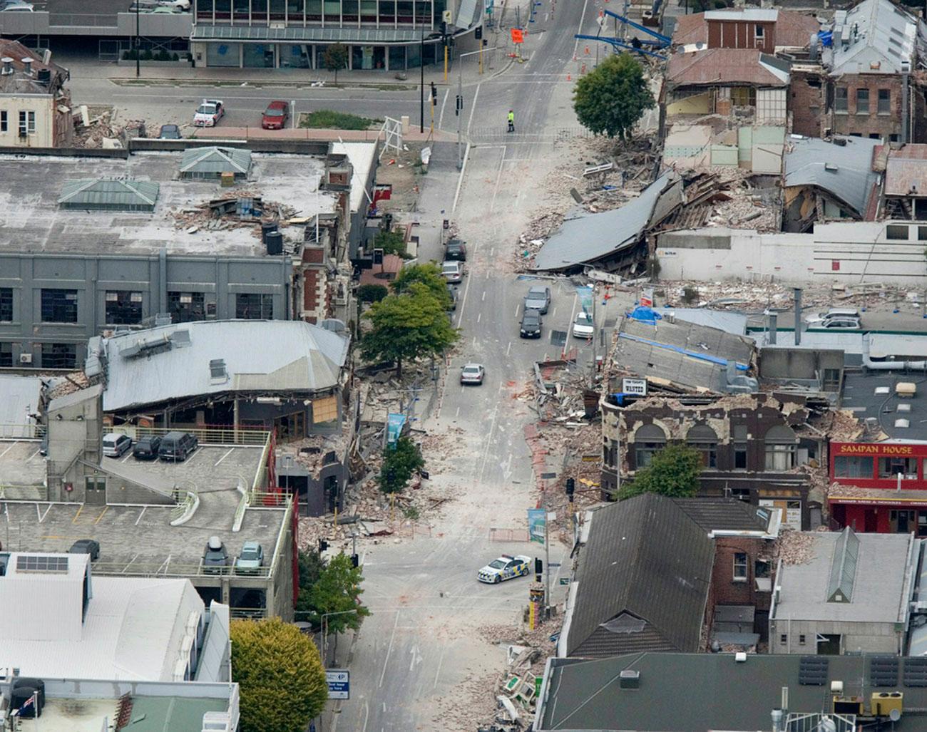в центре землетрясения, фото Новой Зеландии