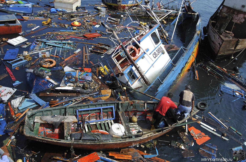 разбитые лодки