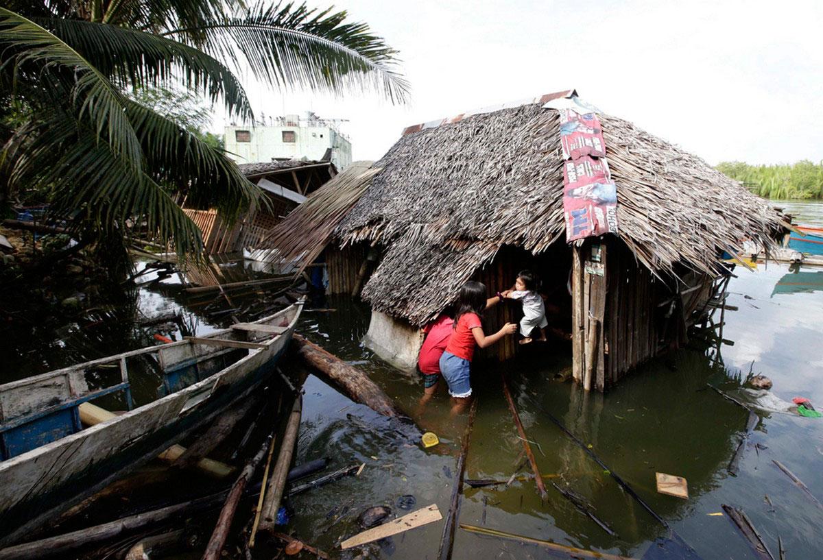 затопленные жилые постройки