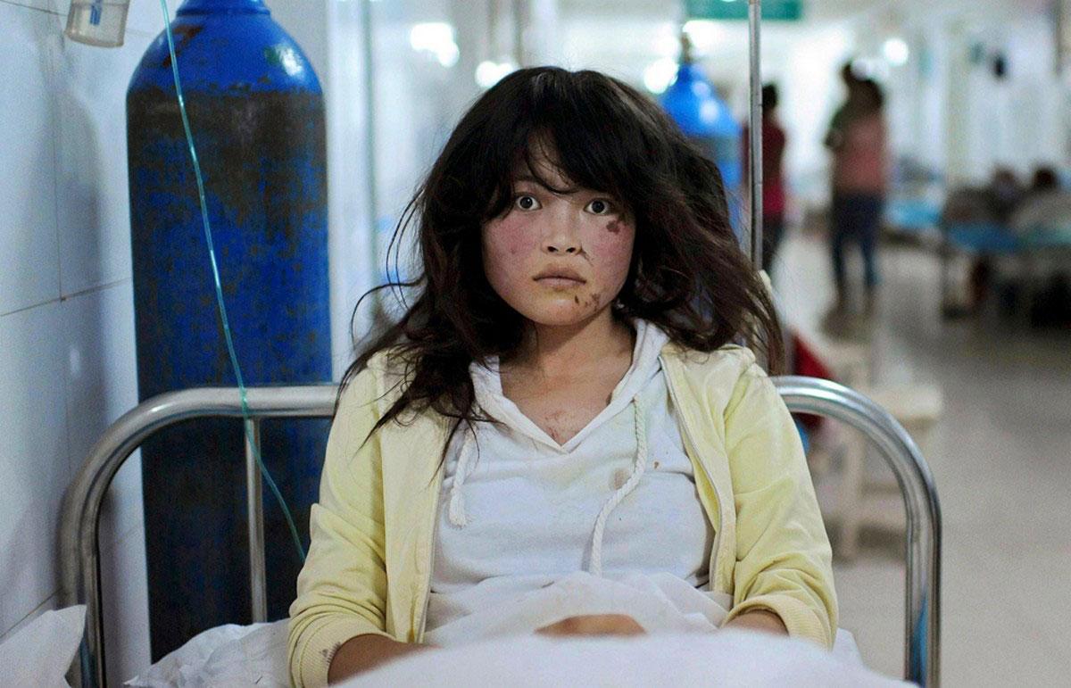 пострадавшая в больнице
