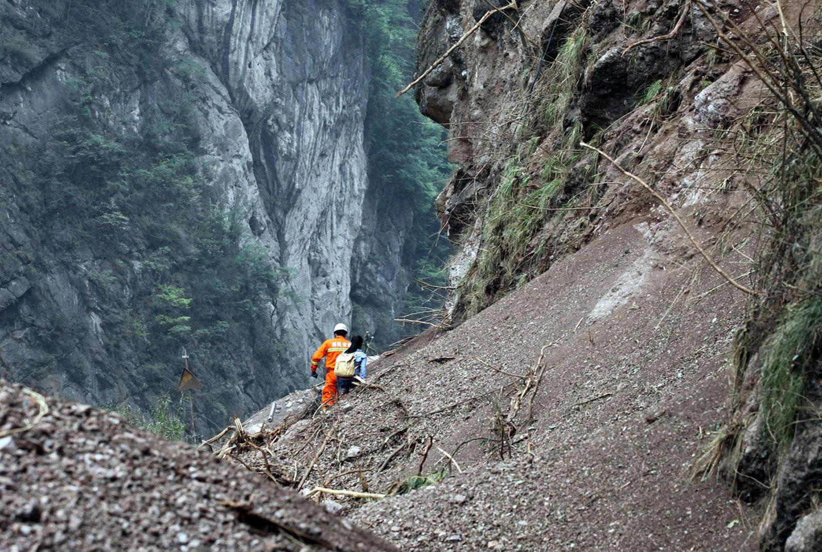 люди в горах Китая