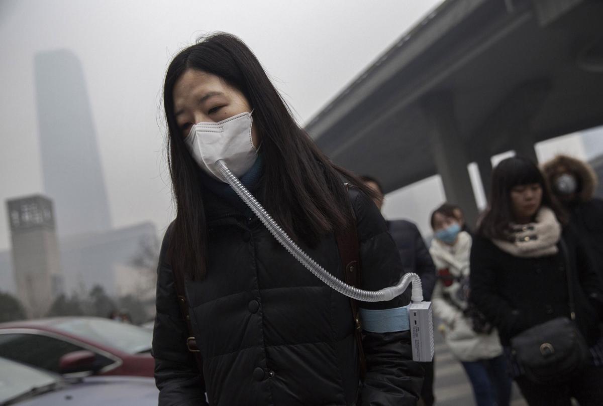 Китаянка в маске
