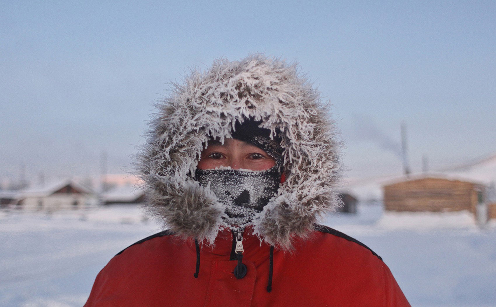 замерзший мужчина