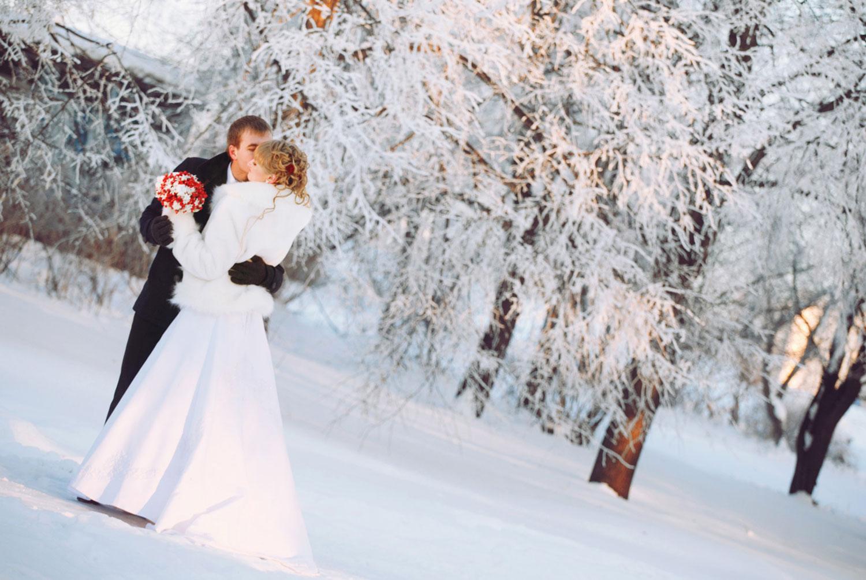 Свадьбы зимой девушки фото